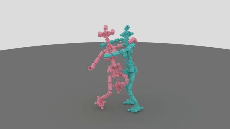 Танец фигурок из конструктора Бинар