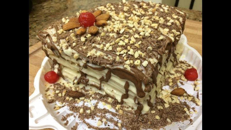 Блинный торт с шоколадом от Мастерской Шоколада и кафе Блинная изба