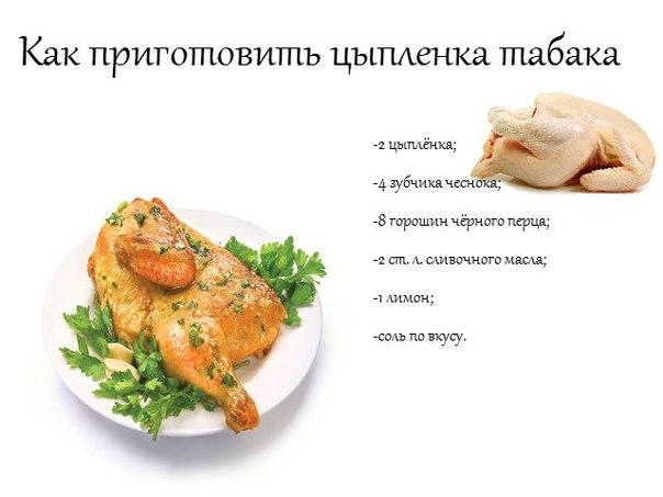 цыпленок табака в духовке рецепт пошаговый рецепт