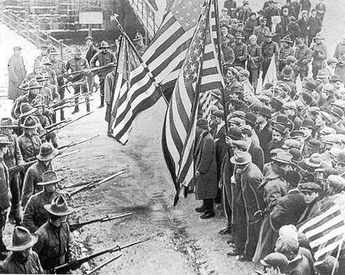 Забастовка текстильных рабочих в Лоуренс 1912г. СШАштат Массачусетс