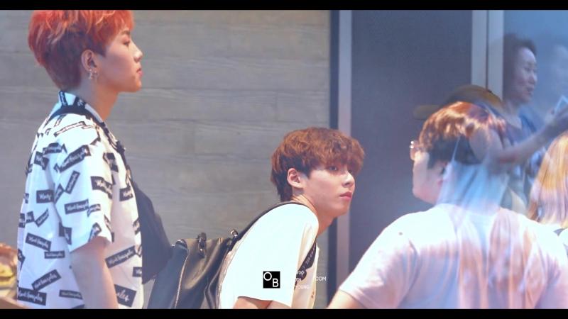 FANCAM • Джинён после записи на 'M!Countdown' • 180621