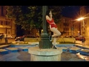 Smoking Girl Around a Fountain Pole (Urban Night)