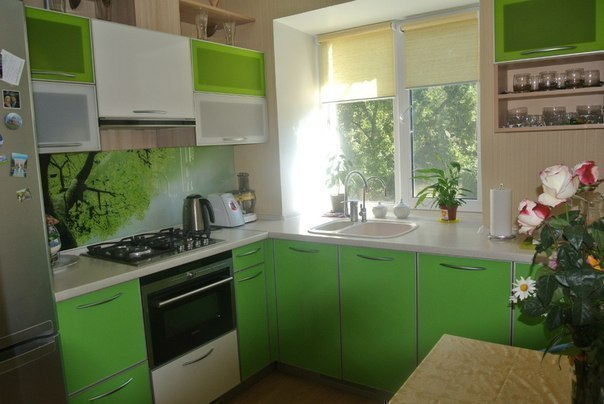 Idea for kitchen only 6 sq.m.