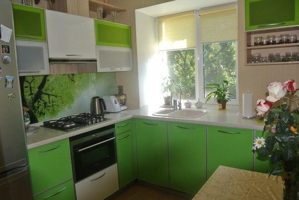Идея для кухни площадью всего 6 кв.м.