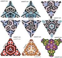 18 схем треугольников.