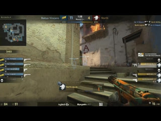 Na`Vi 2nd pistol round vs North, de_mirage @ ESL Pro League