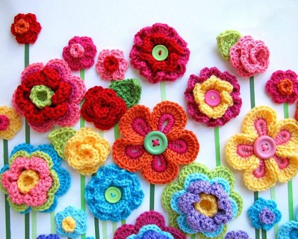 Цветы с крючком своими руками