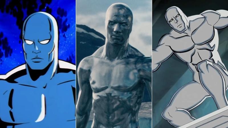 Эволюция Серебряного Серфера в мультфильмах и кино/Evolution of Silver Surfer in movies and cartoons