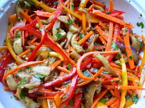 Рецепт баклажаны с корейской морковкой
