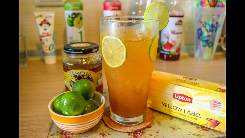 Lipton ice tea honey lemon แจกสูตร ชาลิปตั้นน้ำผึ้งมะนาวเย็น