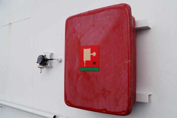 Пожарный шланг на корабле