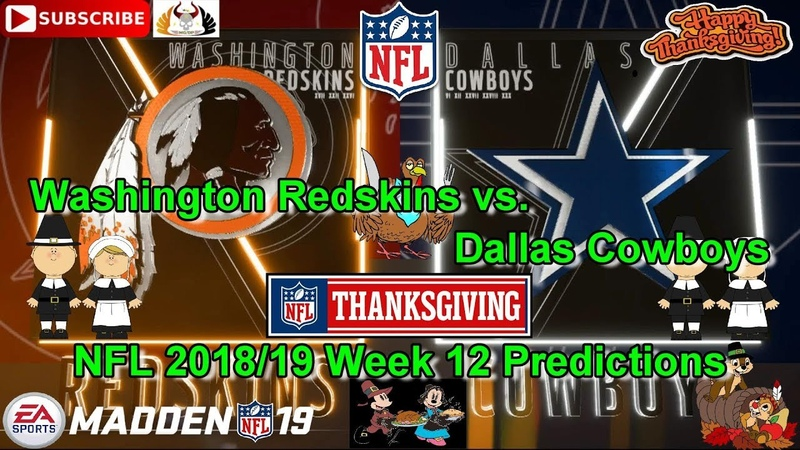 Washington Redskins vs. Dallas Cowboys | NFL 2018-19 Week 12 | Predictions Madden NFL 19