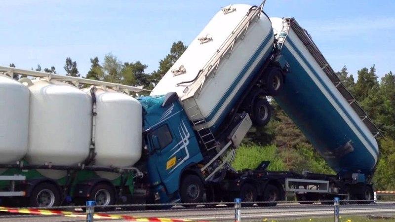 Идиоты за рулем грузовиков 2018