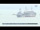 Украинские военные корабли прошли под арками Крымского моста