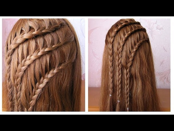 Coiffure avec tresses 💎 Tuto coiffure simple cheveux long/mi long 💎 Easy braided hairstyles