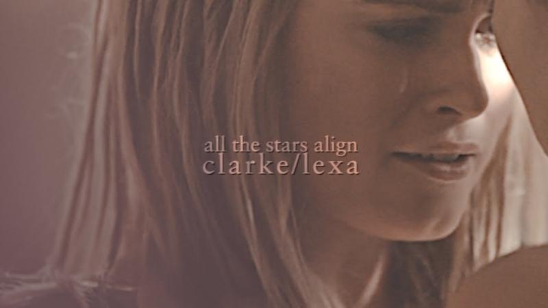 ✧・゚all the stars align | clarke and lexa