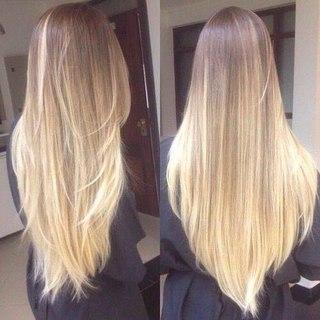 фото девушек с длинными русыми волосами со спины