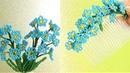 Цветы из бисера НЕЗАБУДКИ мастер класс Украшение для волос