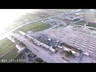 Взрыв смертника в машине. Видео с дрона..mp4
