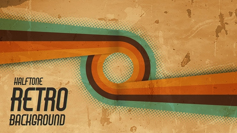 How to Create Retro Background with Halftone in Illustrator