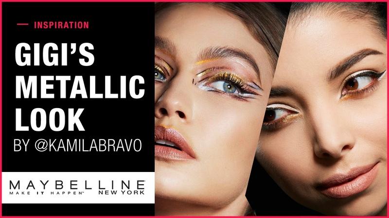 Get The Look: Gigi Hadid's Metallic Makeup Look | Maybelline New York