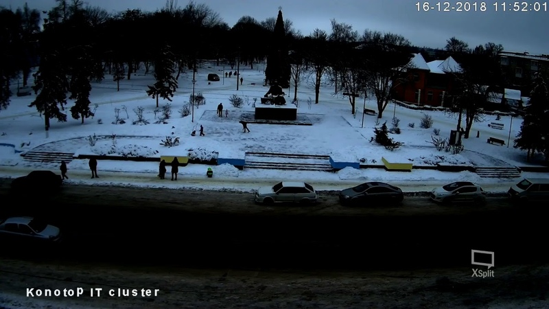 Трансляція новорічної ялинки м. Конотоп. пр. Миру, міський парк