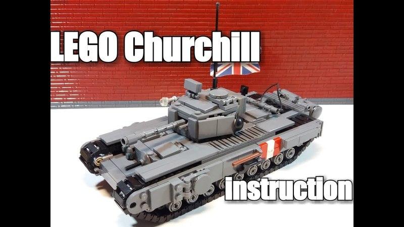 LEGO tank instruction : Churchill