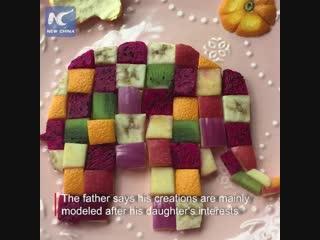 Тематические завтраки от отца из Китая