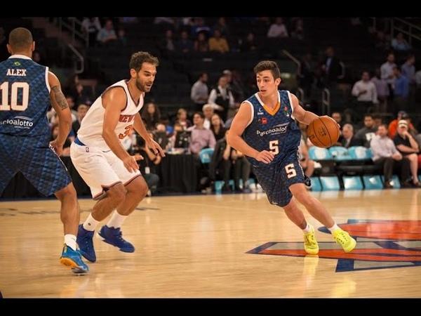 Ricardo Fischer vs NY Knicks - 07 de Outubro, 2015 (11 Pontos, 10 Assist e 10 Rebotes)