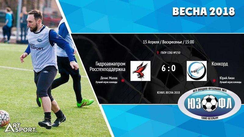 Гидроавиапром Росстехподдержка 6-0 Конкорд.Полный матч.