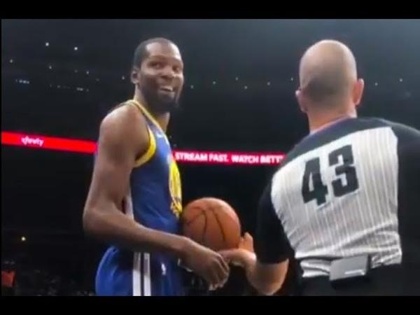Kevin Durant TRASH TALK Hawks Fan