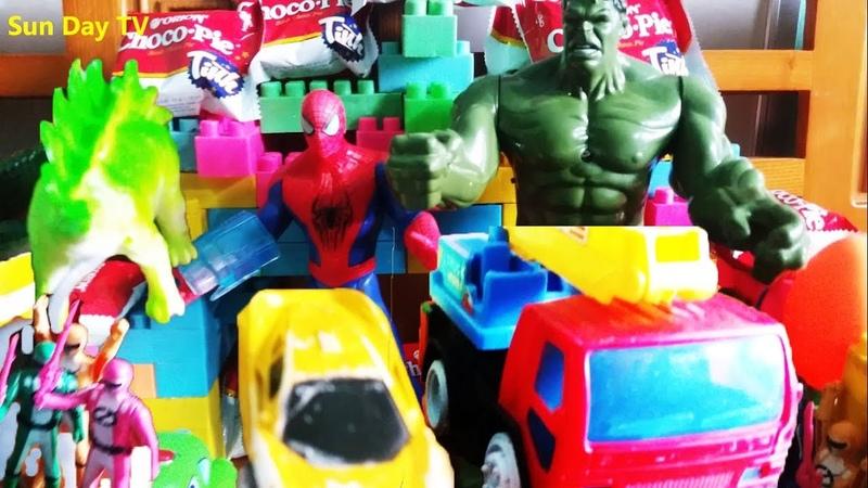 Anh em siêu nhân, Người khổng lồ xanh, Ô tô, Khủng long, Cá sấu vui nhộn