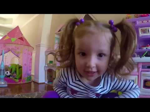 Little Girl Unwrapping Candy On The Valentine's Day Watch Till The END