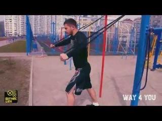 Уличная тренировка с резиновыми петлями(резина для тренировок)