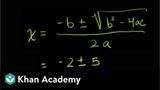 Quadratic formula Polynomial and rational functions Algebra II