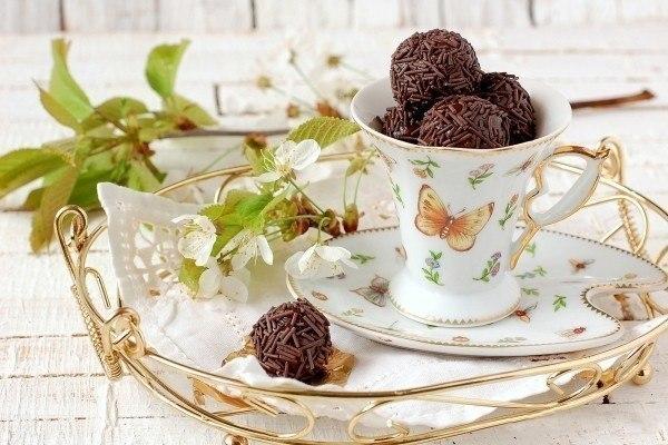 Подборка рецептов ДОМАШНИХ КОНФЕТ. 1. Шоколадные конфеты с