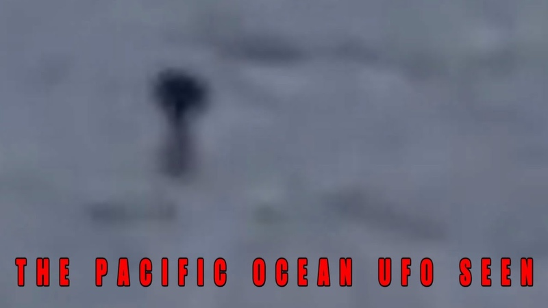 Object Hovering Slowly Over The Pacific Ocean. (UFO News)