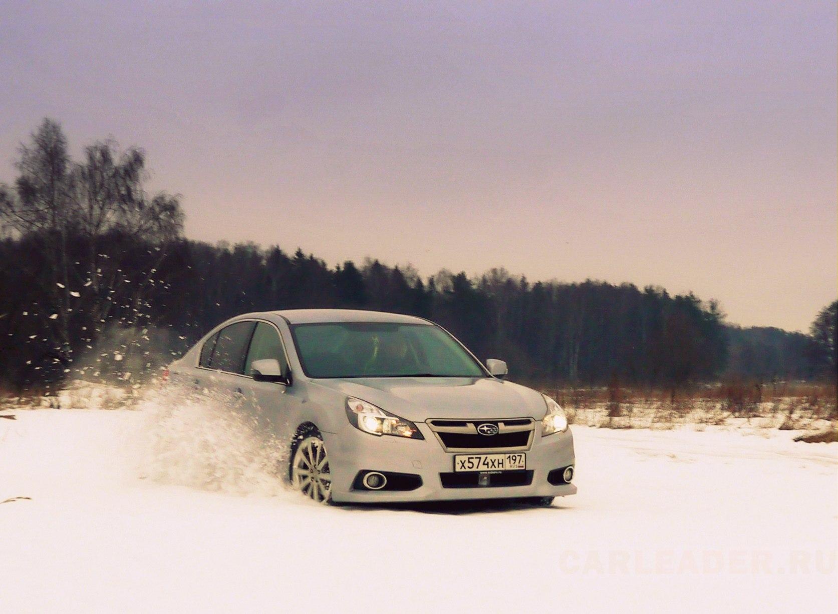 Снежный дрифт Subaru Legacy 2012