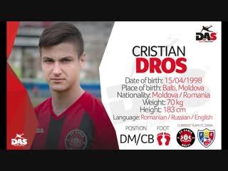 Cristian dros || center back / defensive mdf || 20 y.o || highlight video