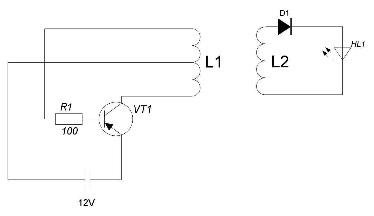 Схема передачи электроэнергии от генератора к потребителю