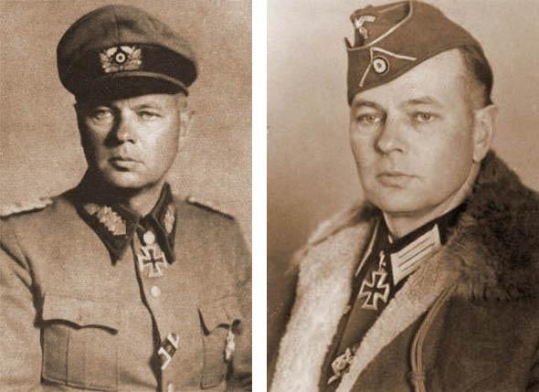 Генерал Гельмут фон Паннвиц добровольно разделил судьбу своих казаков, он заявил: «Я делил со своими казаками счастливое время, я останусь с ними и в несчастье».