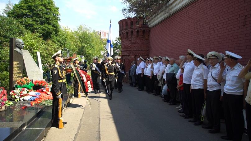 Кинокомпания «Союз Маринс Групп» почтила память адмиралов  СССР и РФ
