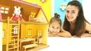 Çizgi film oyuncak açılımı Sylvanian Families tavşan