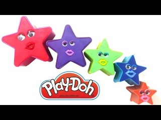 Play & Learn Colours with Star Play Doh Surprise Teletubbies Patrick Star Masha Hello Kitty