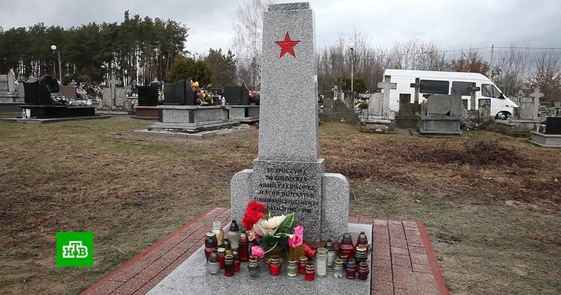 В Польше открыли восстановленный мемориал советским военнопленным