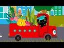 Развивающие и обучающие мультфильмы - Грузовик 🚚 Теремок песенки - мультики про машинки