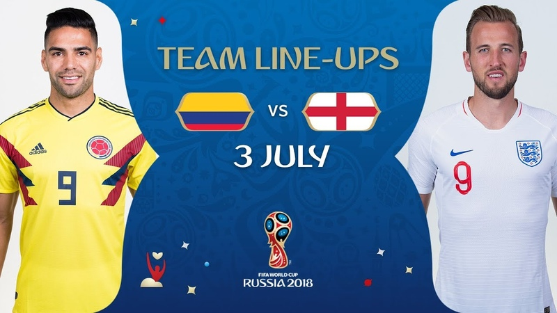 LINEUPS – COLOMBIA V ENGLAND - MATCH 56 @ 2018 FIFA World Cup™