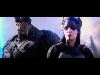 Тор, Грут и Ракета прибывают в Ваканду.Мстители: Война Бесконечности.