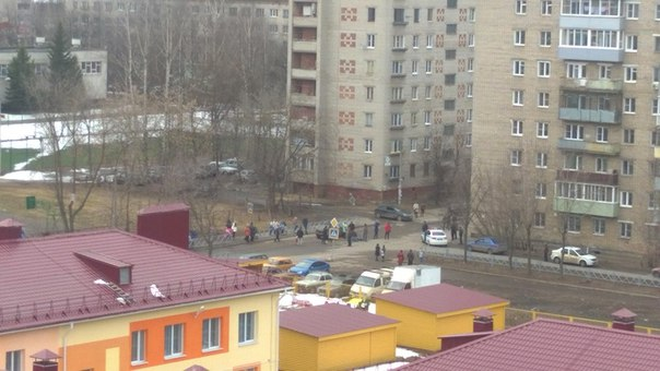 На пешеходном переходе сбили кого то,ул Кольцова-Радищева.Кто нибудь з