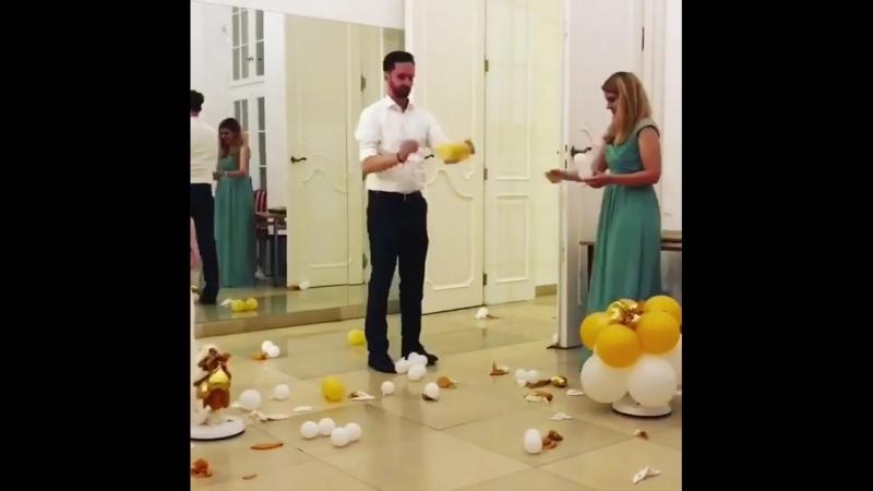 End of wedding balloons